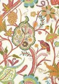 Thibaut Windsor Wallpaper in Cream and Red